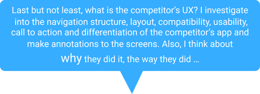 Describtive text about the UX of the competition