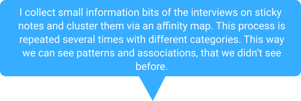 Text about affinity mapping slides